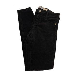 Brandy Melville Black Corduroy Skinny Pants Sz 23